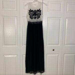 Love culture white black sheer maxi dress small